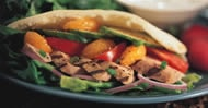 Grilled Pork, Nectarine and Cucumber Stuffed Pita