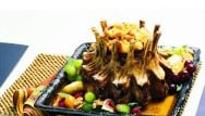 Crown Roast of Pork with Apricot Pine Nut Stuffing
